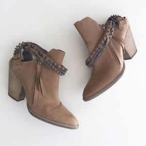 Dolce Vita Hollice Strappy Leather Mule Booties